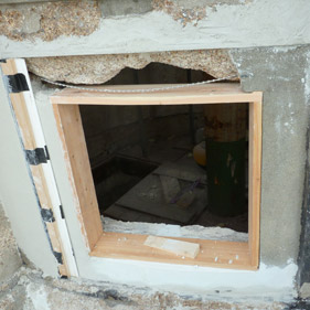 Repairs required following window removal