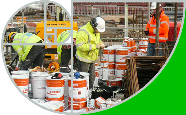Our team of construction contractors working onsite