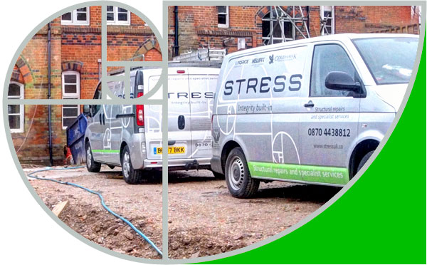 Our Stress vans are clean and professional on site